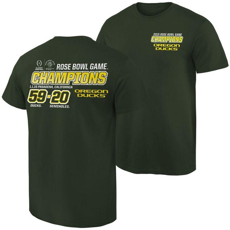 Oregon Ducks 2015 Rose Bowl Champions Quick Score T-Shirt - Green