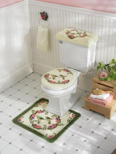 Hummingbird Bathroom Toilet Cover Amp Commode Set