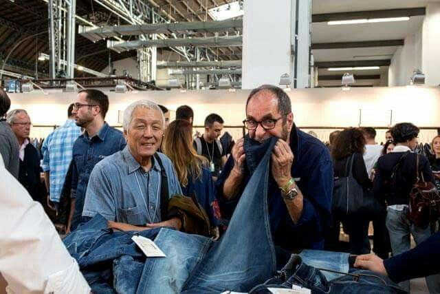 Having fun with Jae Chung & François Girbaud #denim #barcelona #premierevision