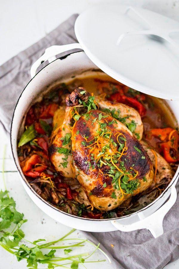 Cuban Chicken with Chili Roasted Yams by feastingathome #Chicken #Yams #Cuban