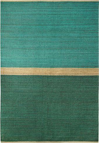 Hemp rug Field Green/Blue by Brita Sweden