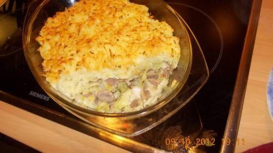 Ovenschotel spitskool met champignons en spekjes