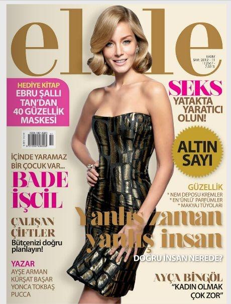 Bade Iscil - Elele Magazine Cover [Turkey] (November 2012)