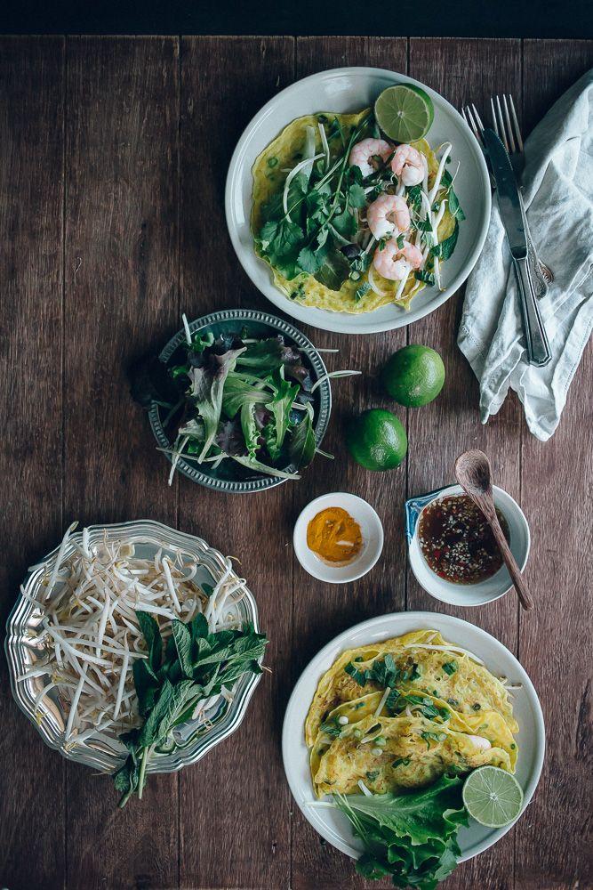 Vietnamese Savoury Prawn Pancakes | Jet & Indigo
