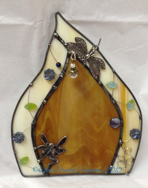 Handcrafted Stained Glass Fairy Door by craftycleo on Etsy