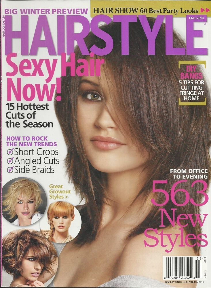 Hairstyle magazine Short crops Angled cuts Side braids DIY bangs New styles