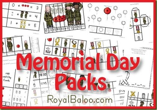 Free Memorial Day Printable Packs K-2nd
