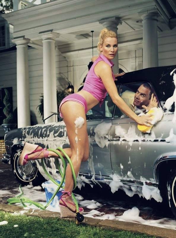 Deperate Housewives - Nicollette Sheridan and Mark Moses by Mark Seliger.