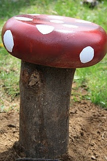 Making toadstools for the garden