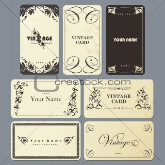 Set of Vintage business card templates | business cards insp ...