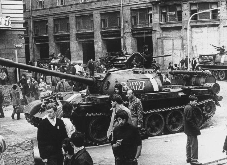Soviet tank in Prague, 1968