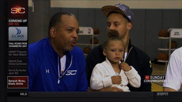 Riley Curry Interrupts Steph Curry & Klay Thompson Father's Day Interview   LIVE 6-21-15 - YouTube
