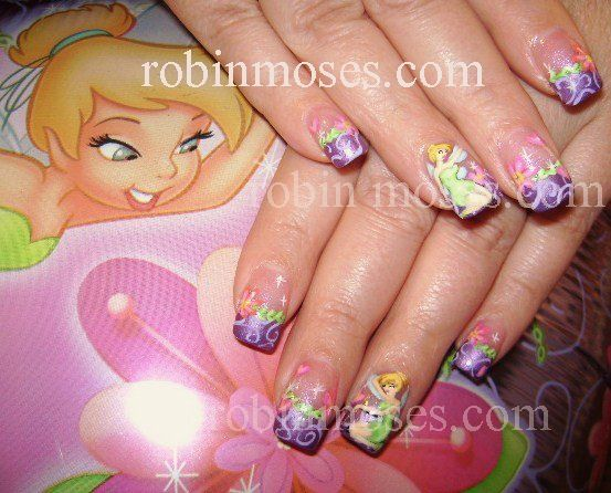 168 best acrylic nail designs images on pinterest acrylic nail tinkerbell my daughter would flip out if she could have this done probably cost a fortune prinsesfo Gallery