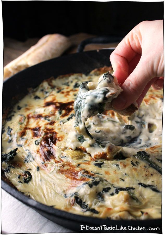 Yes this is vegan, and its amazing! Vegan Spinach & Artichoke Dip tastes like the traditional dish but so much better. Soy, dairy, oil, and gluten free!