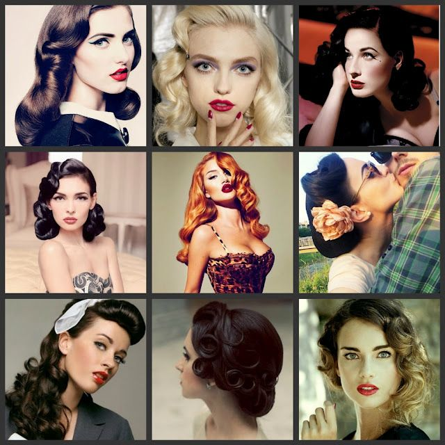 40's hair- Love this, wish we wore our hair like this now.