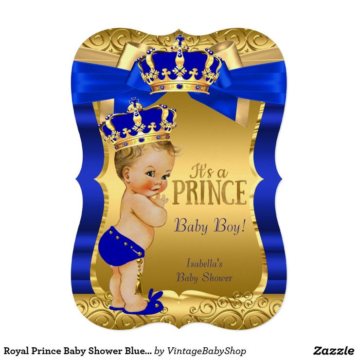 best blue gold prince baby shower invitations images on, Baby shower