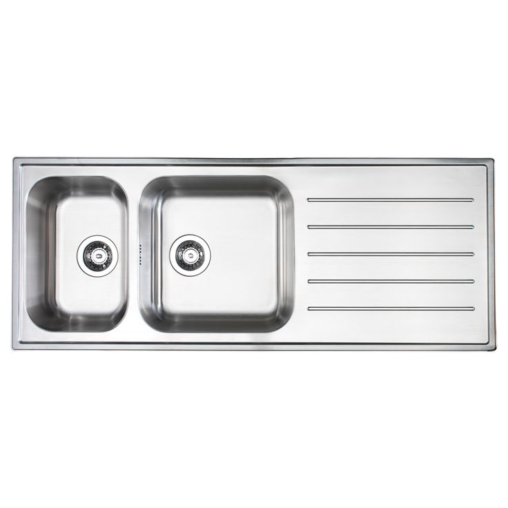 BOHOLMEN 2 bowl inset sink with drainer - IKEA