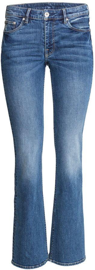 H&M - Boot cut Regular Jeans - Light denim blue - Ladies