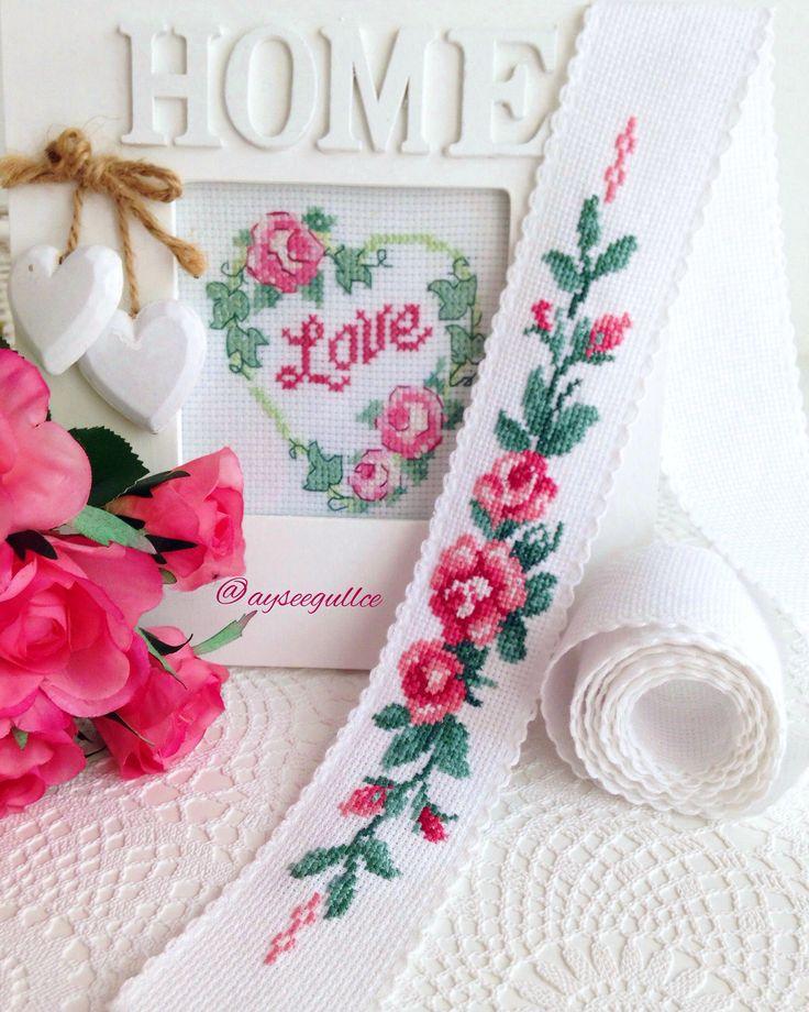 Cross stitch rose @ayseegullce