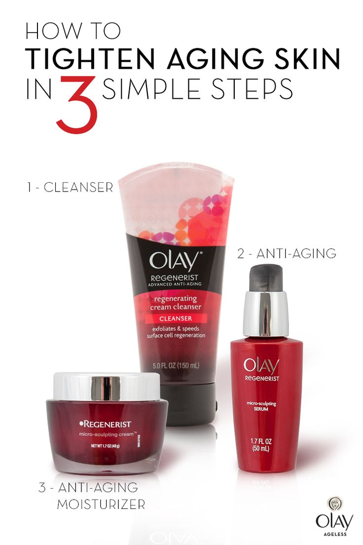 Beauty has no age limit. Learn the simple routine that will have everyone guessing your secret to ageless skin. First, select a cleanser that exfoliates the skin's surface. Next, apply one to two drops of anti-aging serum to target your lines and uneven skin tone. Then finish with an anti-aging moisturizer with amino peptides, like Olay Regenerist, to reduce the look of fine lines and wrinkles. Isn't it time to turn back time? Get ageless skin with Olay Regenerist today.