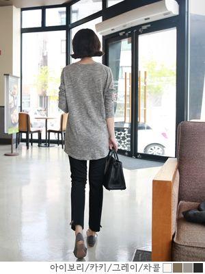 korean fashion online store [COCOBLACK] Long sleeve t Coco Slab / Size : FREE / Price : 23.95 USD #korea #fashion #style #fashionshop #cocoblack #missyfashion #missy #top #tee #dailyT #basicT #longT #dailylook