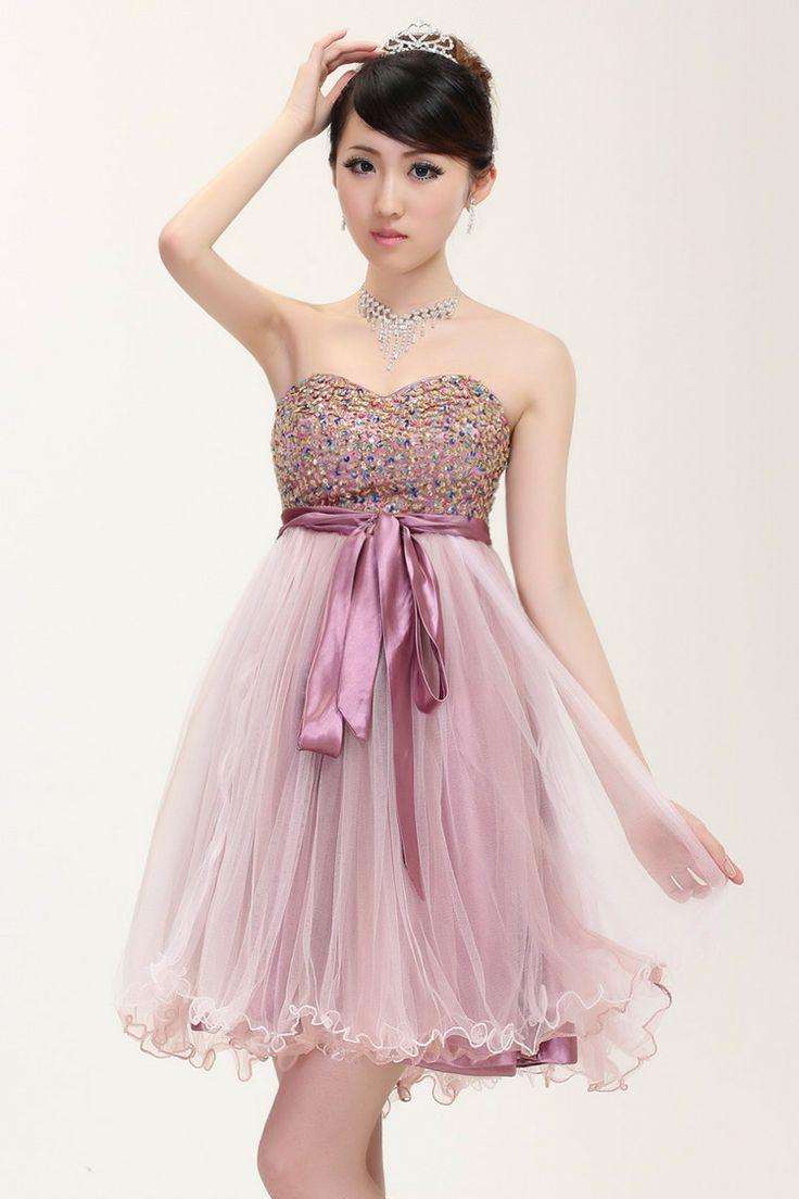 Envío gratuito de nuevo de alta- final de color rojo púrpura champán a corto diseño de dama de honor vestido de venta al por mayor