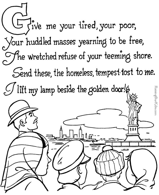 the statue of liberty coloring pages for kids 072