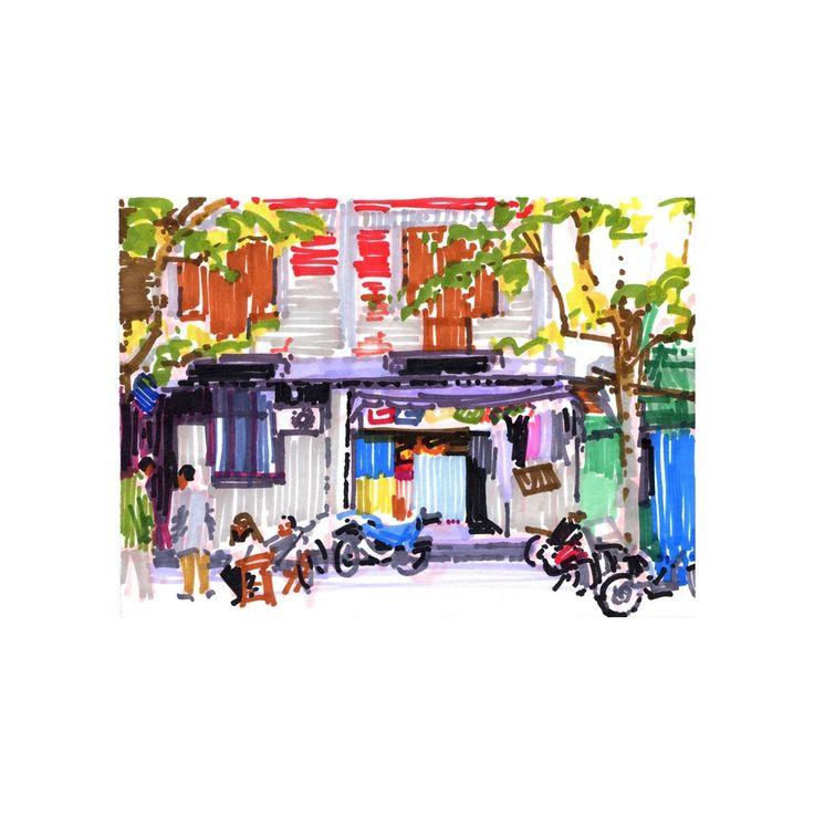 Olivier Morel - Shanghai 6 - achetez en ligne des oeuvres d'art originales à prix abordables en direct des ateliers d'artistes, sélectionnés par KAZoART et des experts du monde de l'art