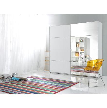 Beta garderob, vit/spegel (180 cm bred)