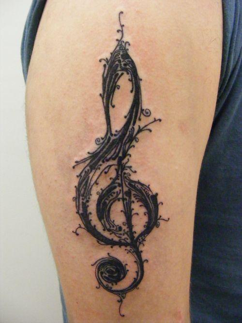 treble clefTattoo Ideas, Treble Clef, Clef Tattoo, Feet Tattoo, Tattoo Artists, Body Piercing, Music Tattoo, A Tattoo, Tattoo Body