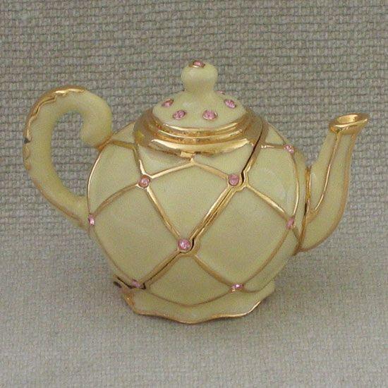 1999 Estee Lauder Compact - Golden Teapot