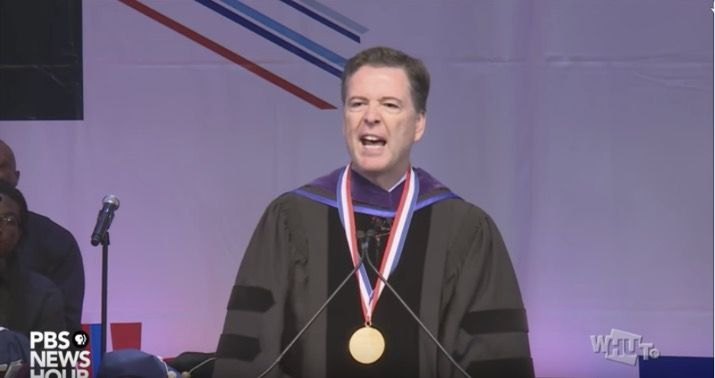 F*** James Comey Yell Protestors Who Try To Shout Out Jame's Comey's Convocation