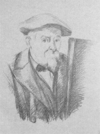 Self-portrait by Paul Cézanne