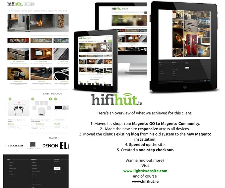 HifiHut aims to deliver the highest quality audio and video electronics at the most competitive prices. This client had his back against the wall, as he was running out of time to convert to Magento Community before Magento GO closed down.  Even though we were working in record time, we achieved the goal and enable him to continue trading and reaching out to his customers.