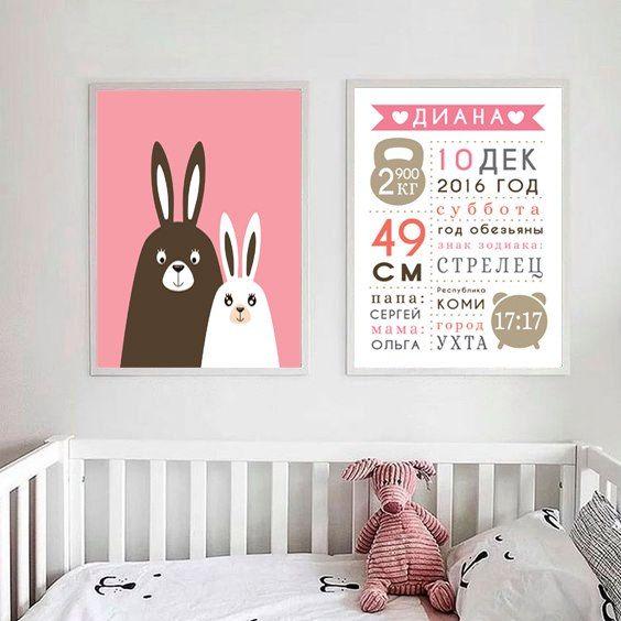 Метрика для детей. Детские постеры на заказ
