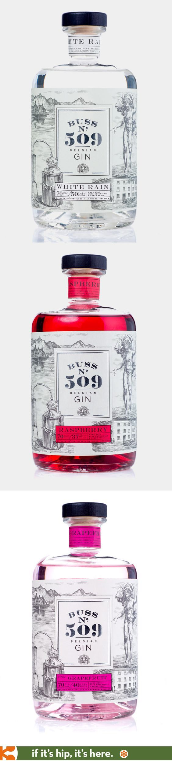 Buss No. 509 Gin Packaging | Fivestar Branding – Design and Branding Agency & Inspiration Gallery