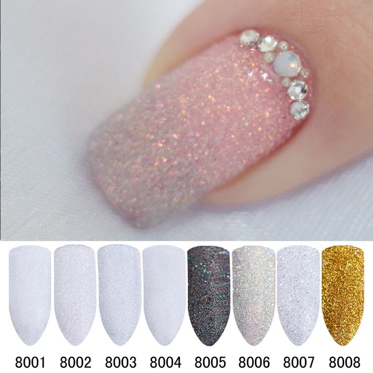 8Pcs/Set Holographic Glitter Powder Shining Sugar Glitter Dust Powder Manicure Nail Art Glitter Sets 8 Colors