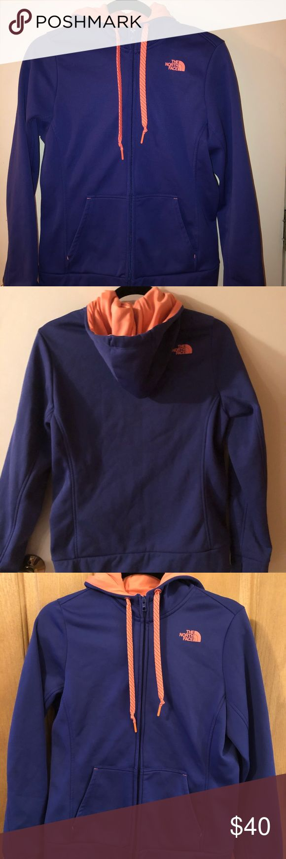 North Face Ladies Jacket—Size Medium Violet Blue and Coral Ladies North Face Jacket—Size Medium The North Face Jackets & Coats