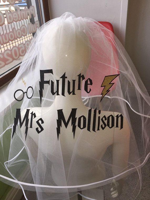 9b4b59b1ce Stunning personalised veil, wedding/hen party, bride, glitter print ...