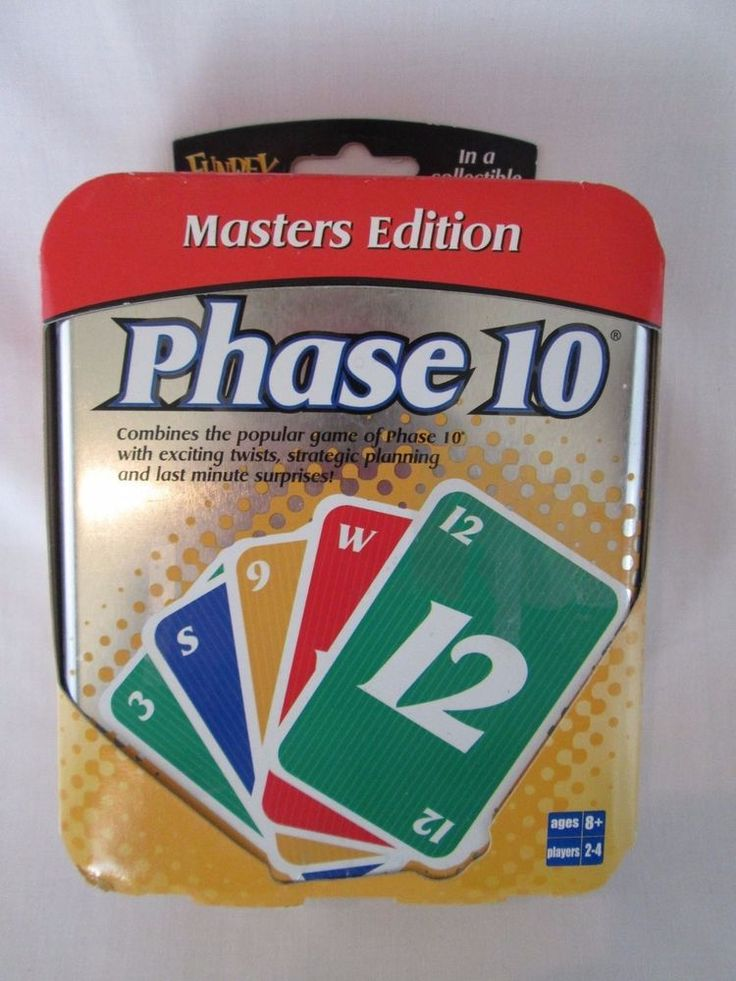 PHASE 10 Masters Edition Card Game Collectible Tin ~ NEW Factory Sealed FUNDEX  #Fundex