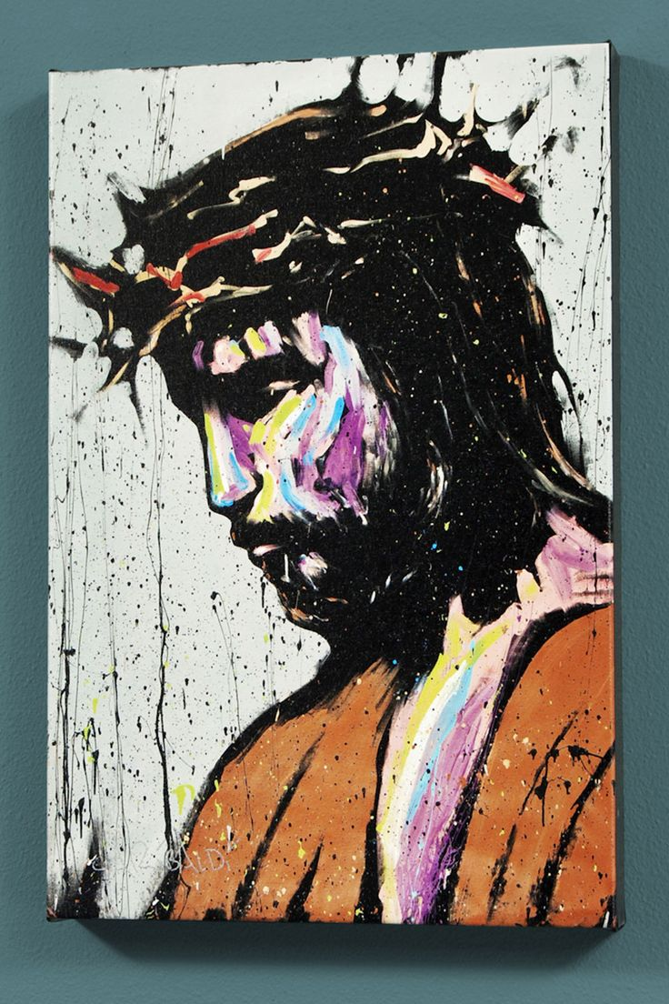 "David Garibaldi Jesus, Ltd. Ed. Giclee on Canvas (30""x40"")"