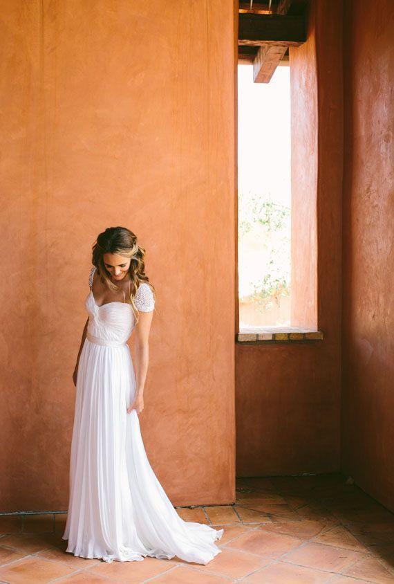 gorgeous cap-sleeve gown #orange