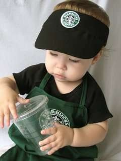 Clever Baby Halloween Costumes: Clever Halloween Costumes, Babies, Baby Barista, Clever Baby, Adult Costumes, Starbucks Barista, Baby Halloween Costumes, Kids Costumes, Cute Baby Costumes