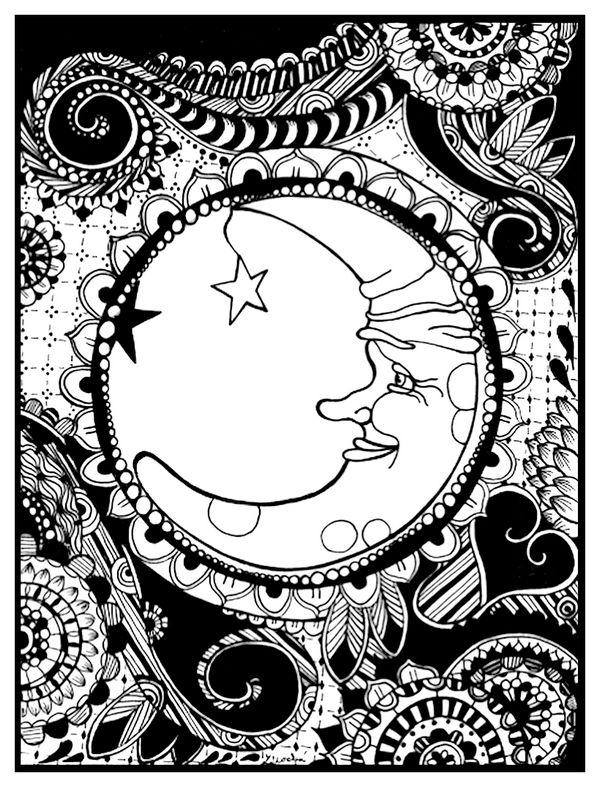 Čierno biely mesiac, kresba gelom