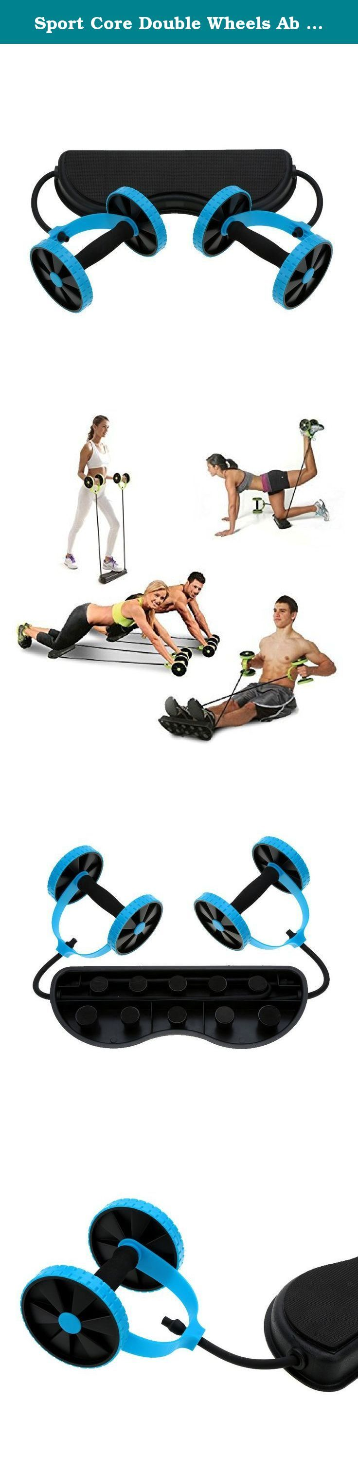 Sport Core Double Wheels Ab Roller Pull Rope Fitness Abdominal Waist Slimming Abdominal Exercise Equipment Blue. Home Exercise Equipment Core Double Wheels Ab Roller Pull Rope Abdominal Waist Slimming Trainer Works every major upper body muscle group and your abdomen Strengthens abs, shoulders, arms, back,waist, leg and so on. The ab wheel works every upper body muscle group, including shoulders, arms, back, waist and abdomen. It can be used at home, in the office or other outdoor space…