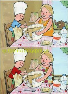 Juf Janna: Oma en opa Zoek de 5 verschillen