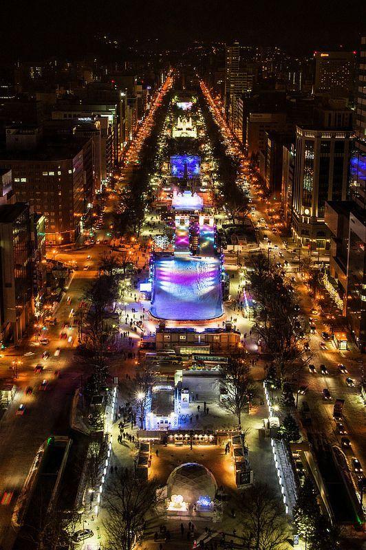 Sapporo Snow Festival, Hokkaido, Japan... #Night #Travel #Snow #Sapporo #Japan .. See more... https://www.facebook.com/chris.wysocki1/media_set?set=a.940904789271587.1073741837.100000562257390&type=3