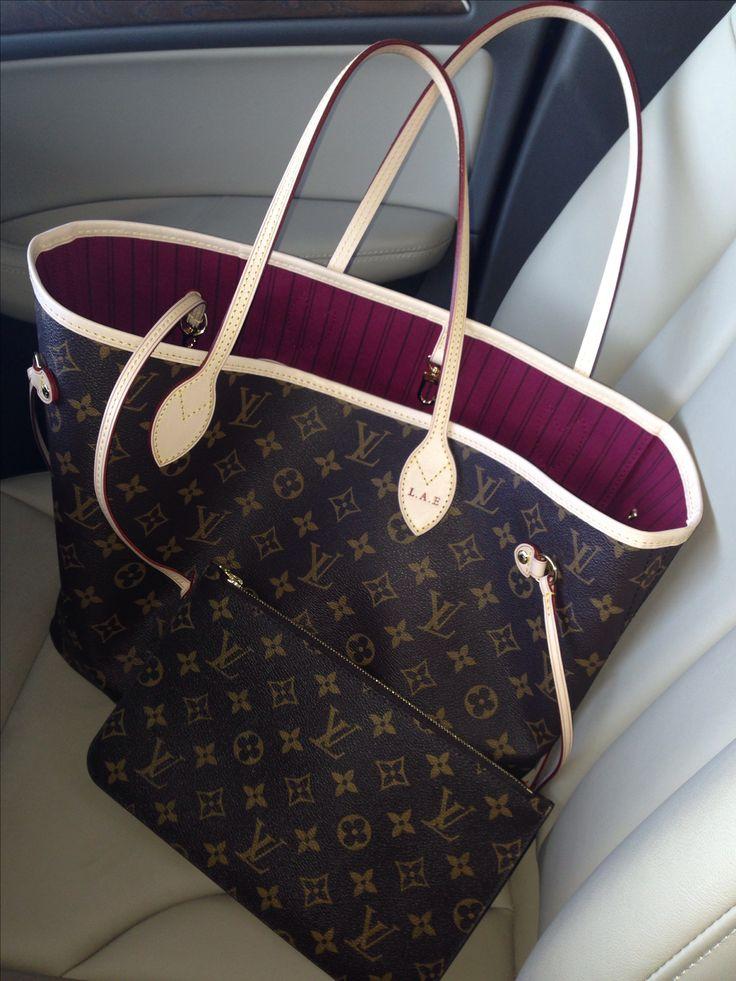 Bag crush  my new Louis Vuitton Neo Neverfull in fuschia