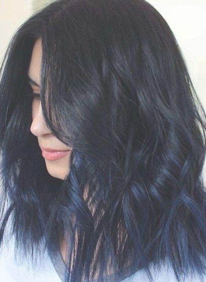 Really Unique And Modern Shades Of Blue Black Hair Colors For