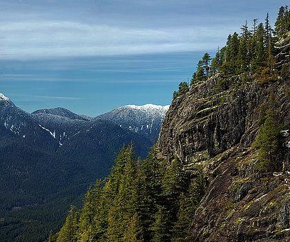 Alex Lyubar Fine Art Photography Photograph - Fantastic View  from Grouse Mountain  by Alex Lyubar  #AlexLyubarFineArtPhotography# #RockyMountain#Canada#BlueSky# #ArtForHome#FineArtPrints#